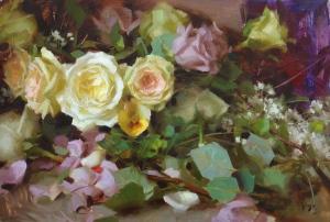 Pale roses Daniel J Keys