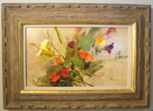 Schmid's Lilly and Nasturtiums oil 12