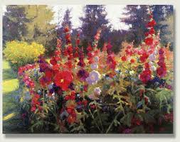 Timothy Thies hollyhocks
