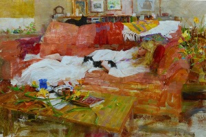 3016_ NANCY AND FRIENDS_oil 16 X 24 copy (1)