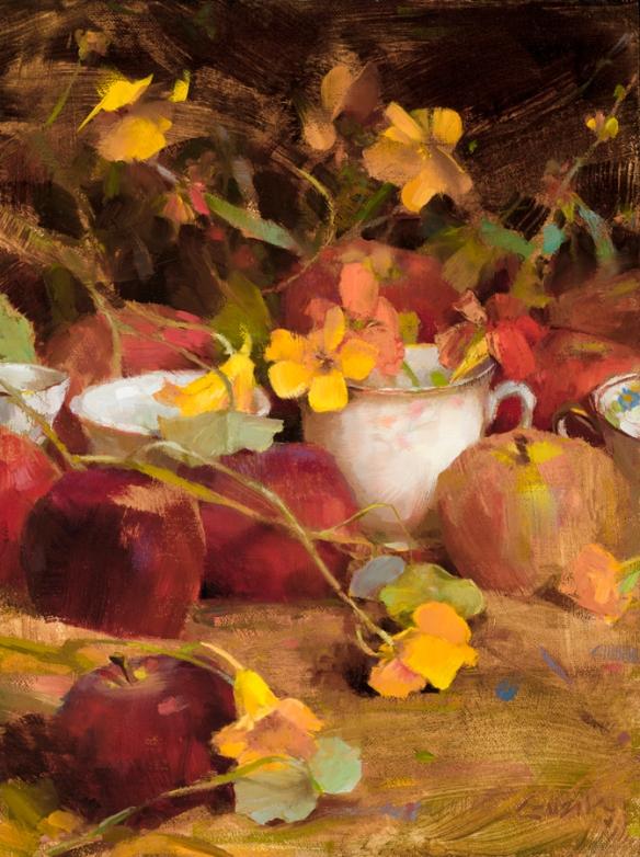 Flowers,_Teacups_and_Apples_12x9_oil_GUZIK_2014_100dpi_P (1)