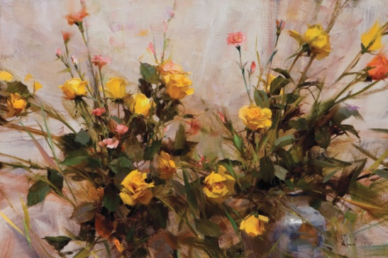"""Yellow Roses"" oil 20"" x 30"""