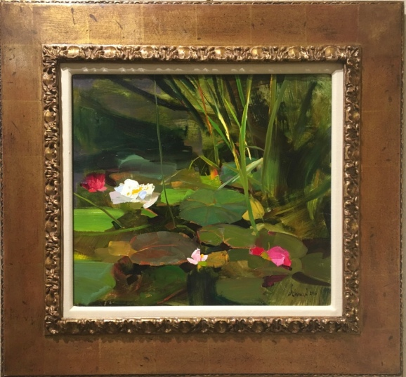 water-lilies-oil-richard-schmid