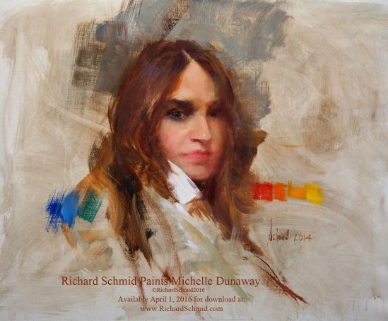 Richard Schmid Paints Michelle Dunaway_©RichardSchmid2016