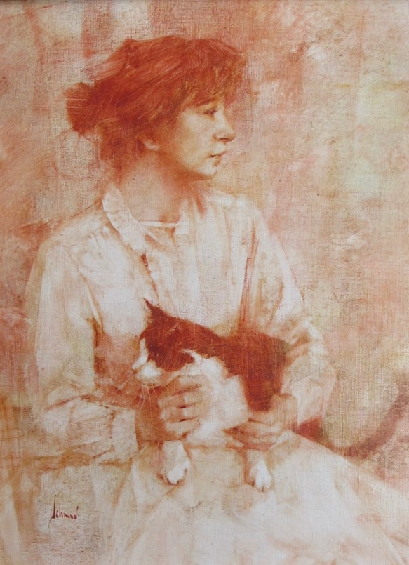 "Nancy & Zorro Monochrome Oil 16"" x 12""©Richard Schmid"