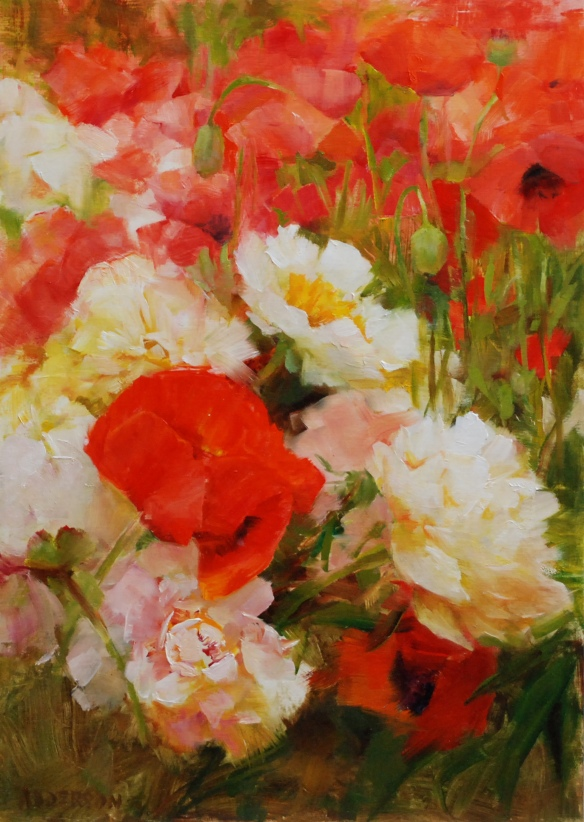 Kathy Anderson-A Love of Poppies, 14x10