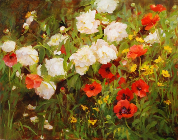White Peonies and Poppies