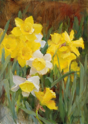 Kathy Anderson April Daffodils: Oil 14x10